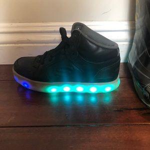skechers light up shoes black